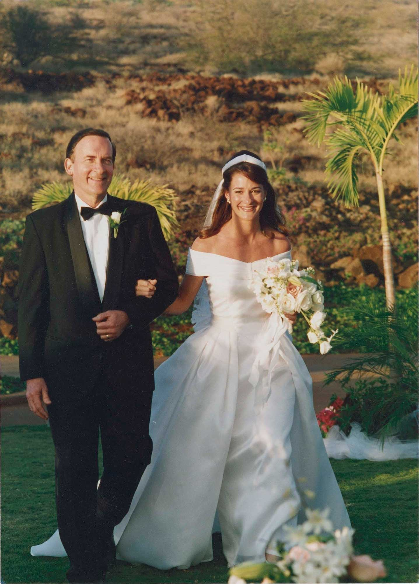 Wedding ceremony of Bill and Melinda Gates