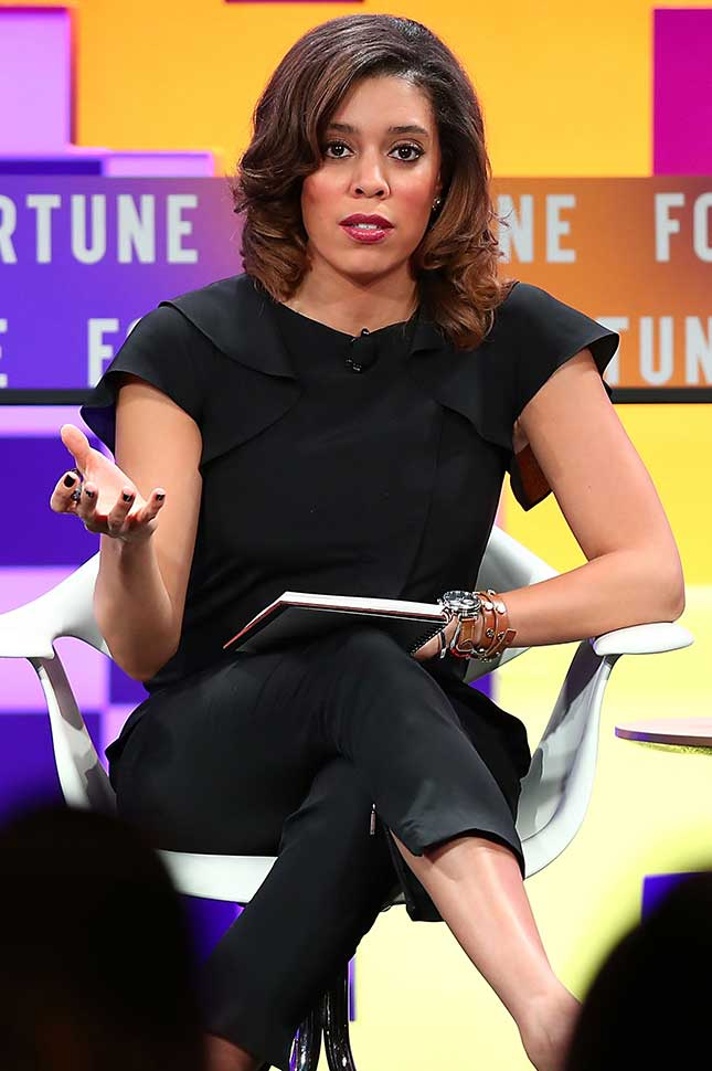 Jamie-Clare Flaherty speaks onstage during the Fortune Most Powerful Women Next Gen conference at Monarch Beach Resort on November 14, 2017 in Dana Point, California.