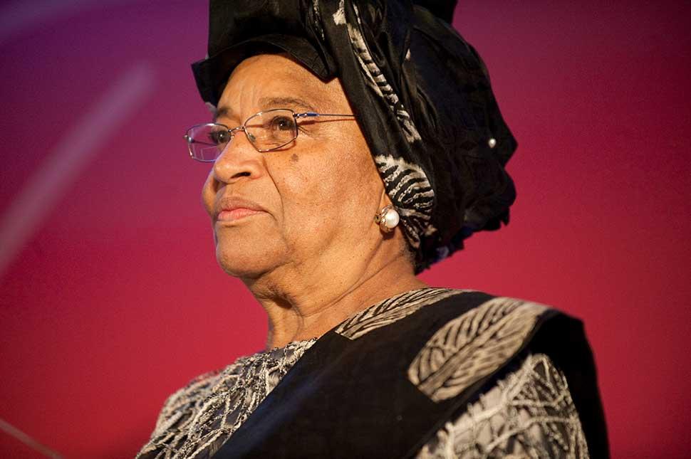 Portrait of former President of Liberia, Ellen Johnson Sirleaf