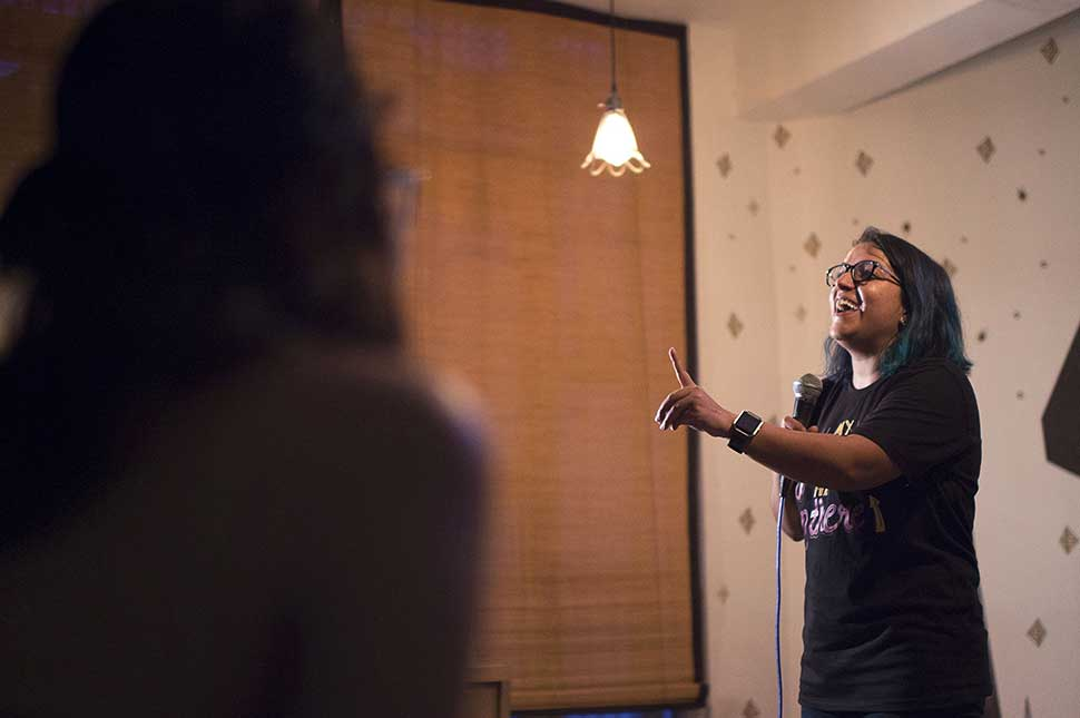 Aditi Mittal delivers stand-up comedy about inequality and sexism women in India face every day.
