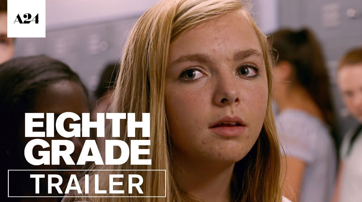 """Thumbnail for the trailer for """"Eighth Grade"""""""
