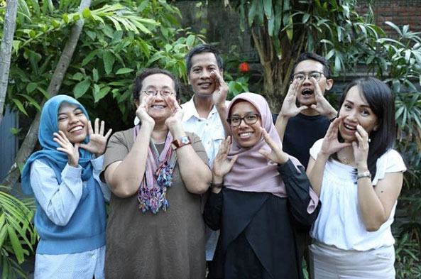 Campaigners at a Speak Your Mind workshop in Bali