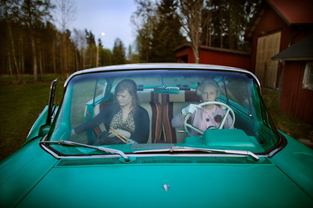 Ulrika Dotzsky (right) has inspired her daughter Fanny Bergman (left) to follow her and her father's interest for the rockabilly culture. The family gathers around rockabilly festivals and the culture that comes with it.