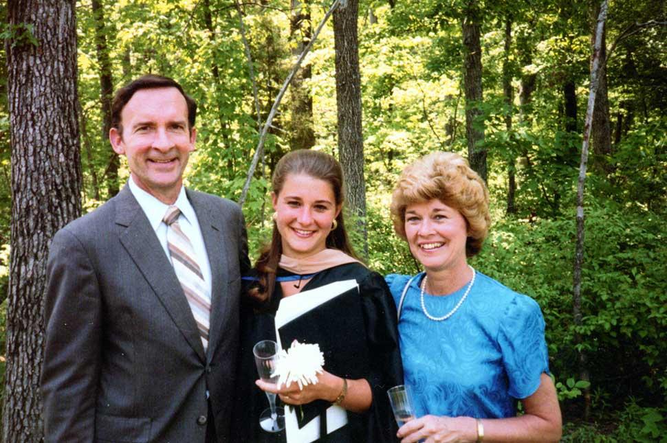 Graduation of Melinda French (Melinda Gates) from The Fuqua School of Business at Duke University