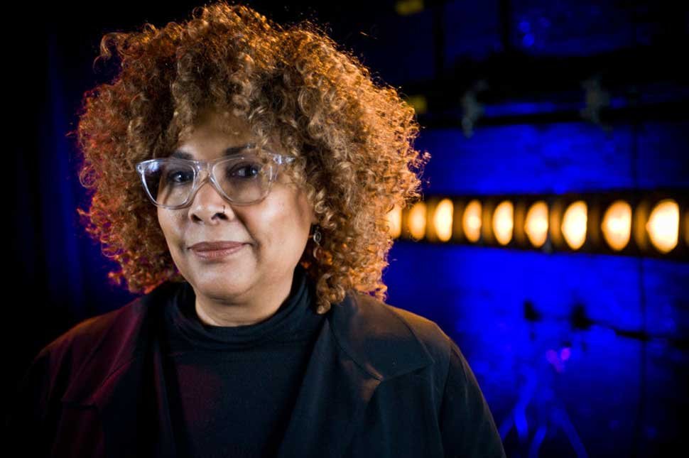 Director Julie Dash poses for a portrait at the Roger Ebert Film Festival on Day four at the Virginia Theatre on April 21, 2018 in Champaign, Illinois.
