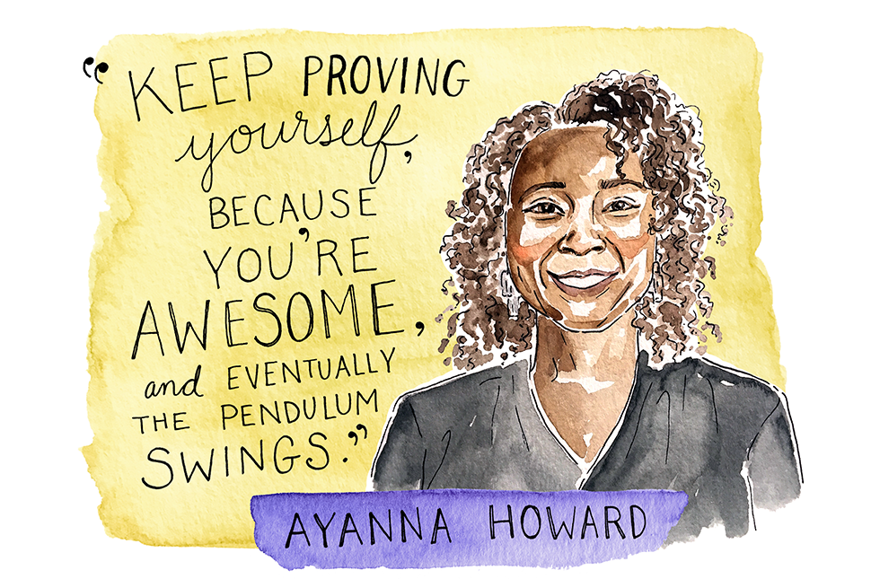 Illustration of Ayanna Howard