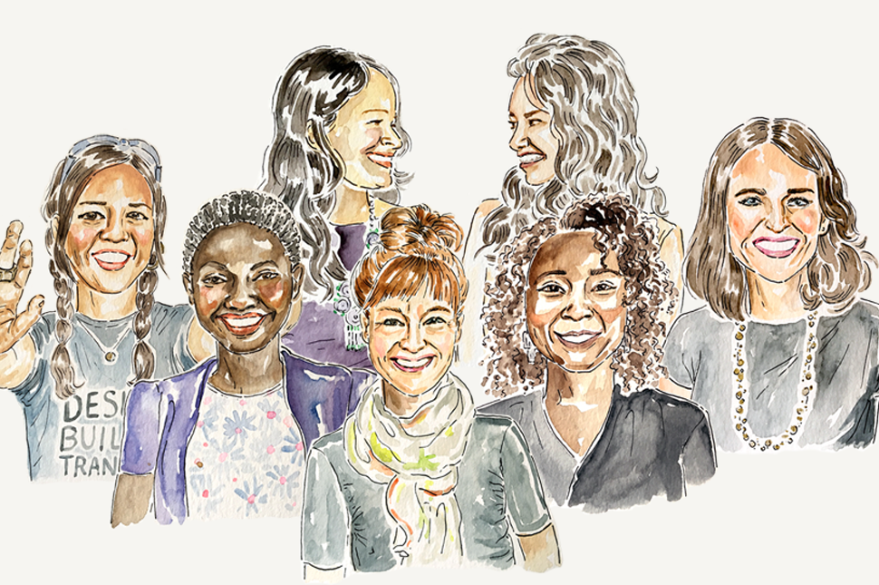 Illustration of 7 women who are making history