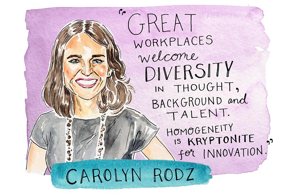 Illustration of Carolyn Rodz by Kimothy Joy