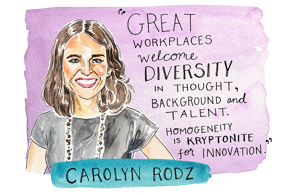 Illustration of Carolyn Rodz by Kimothy Joy
