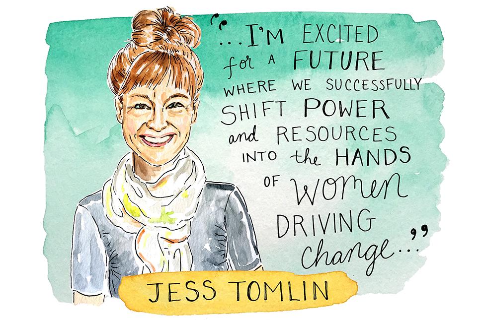 Illustration of Jess Tomlin by Kimothy Joy