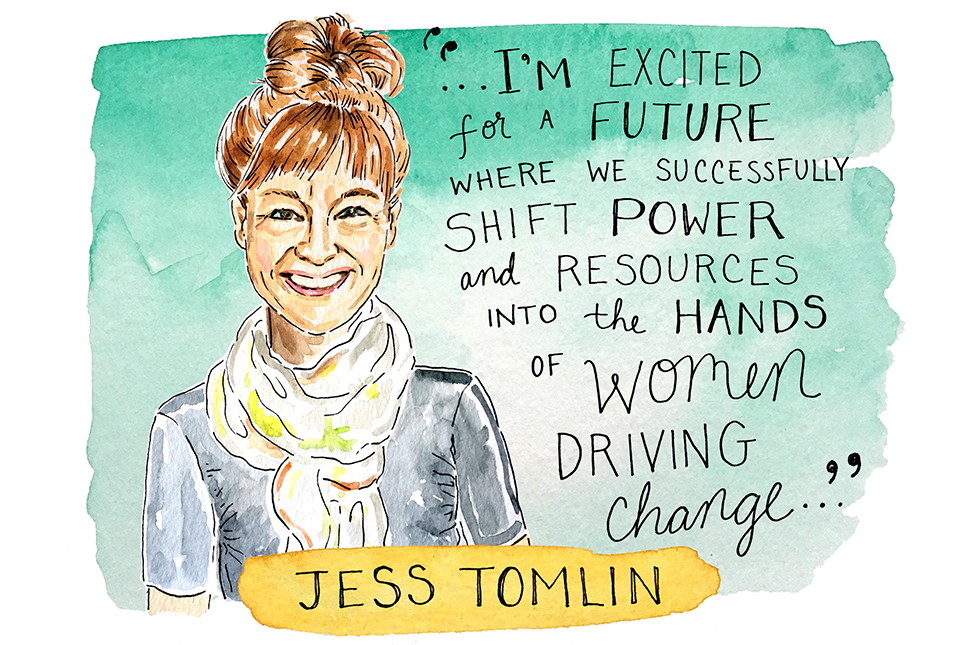 Illustration of Jess Tomlin by Kimothy Joy
