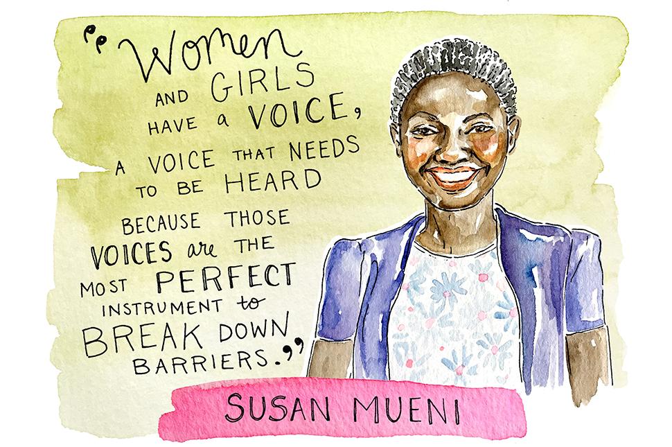 Illustration of Susan Mueni