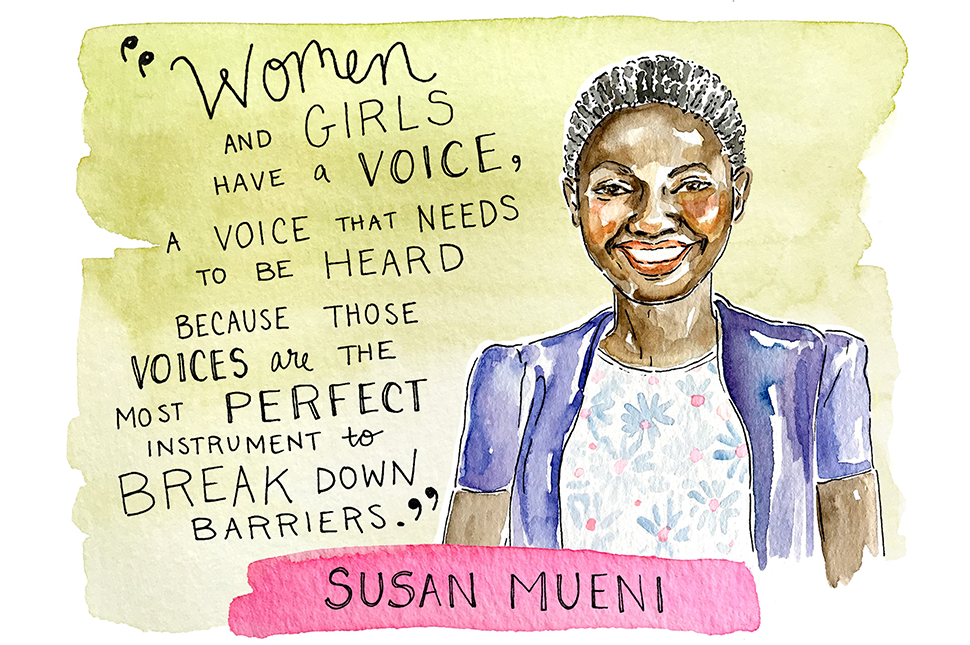Illustration of Susan Mueni