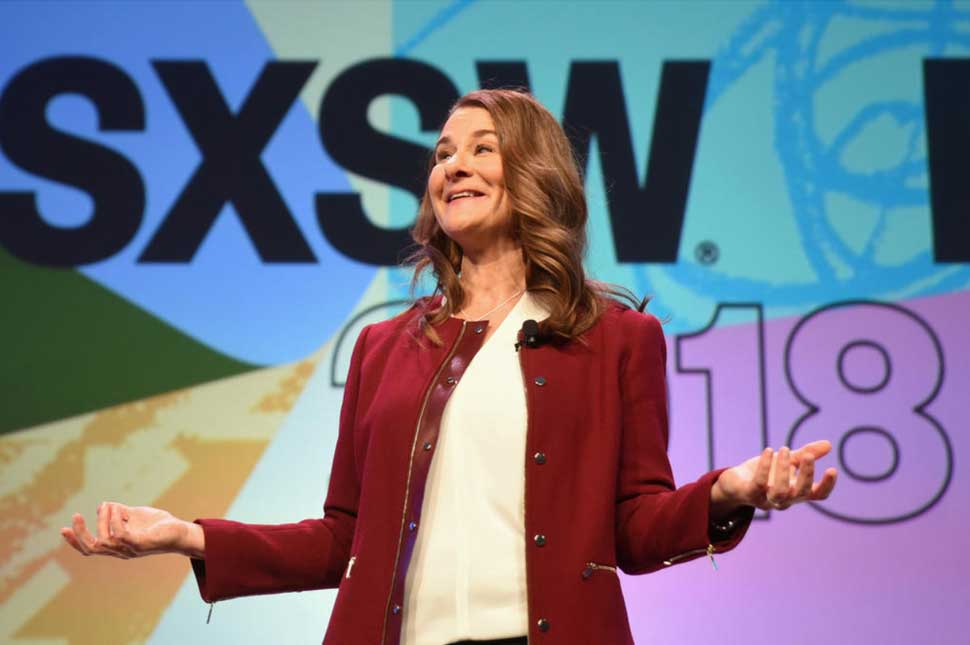 Melinda Gates delivers an interactive keynote speech at SXSW 2018
