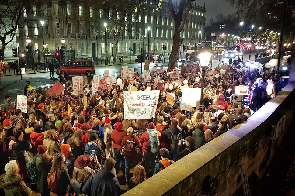 #FreePeriods activists march through London.