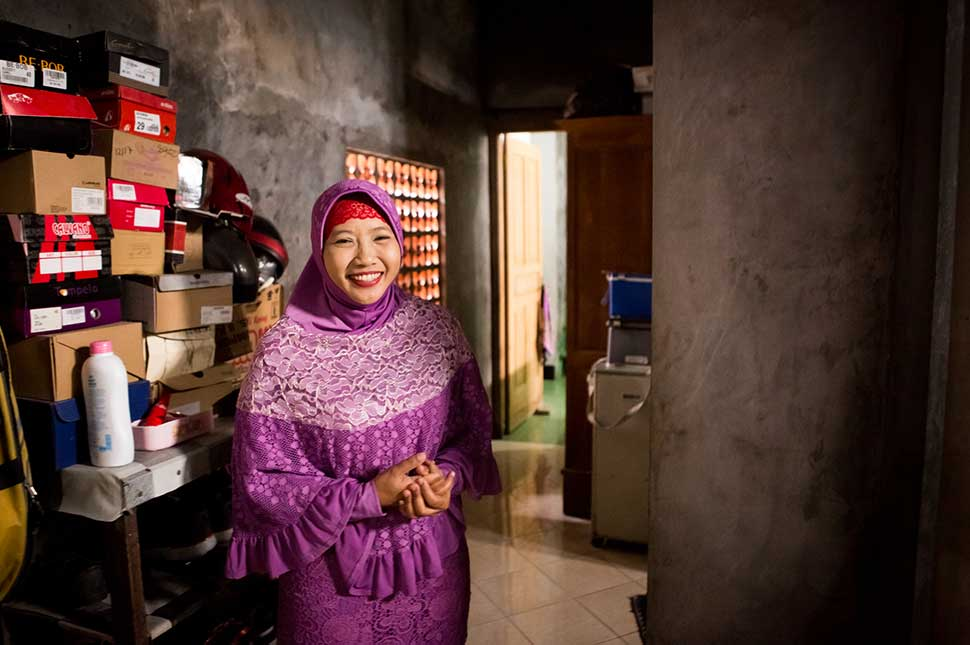 Ati Pujiastuti in her health clinic