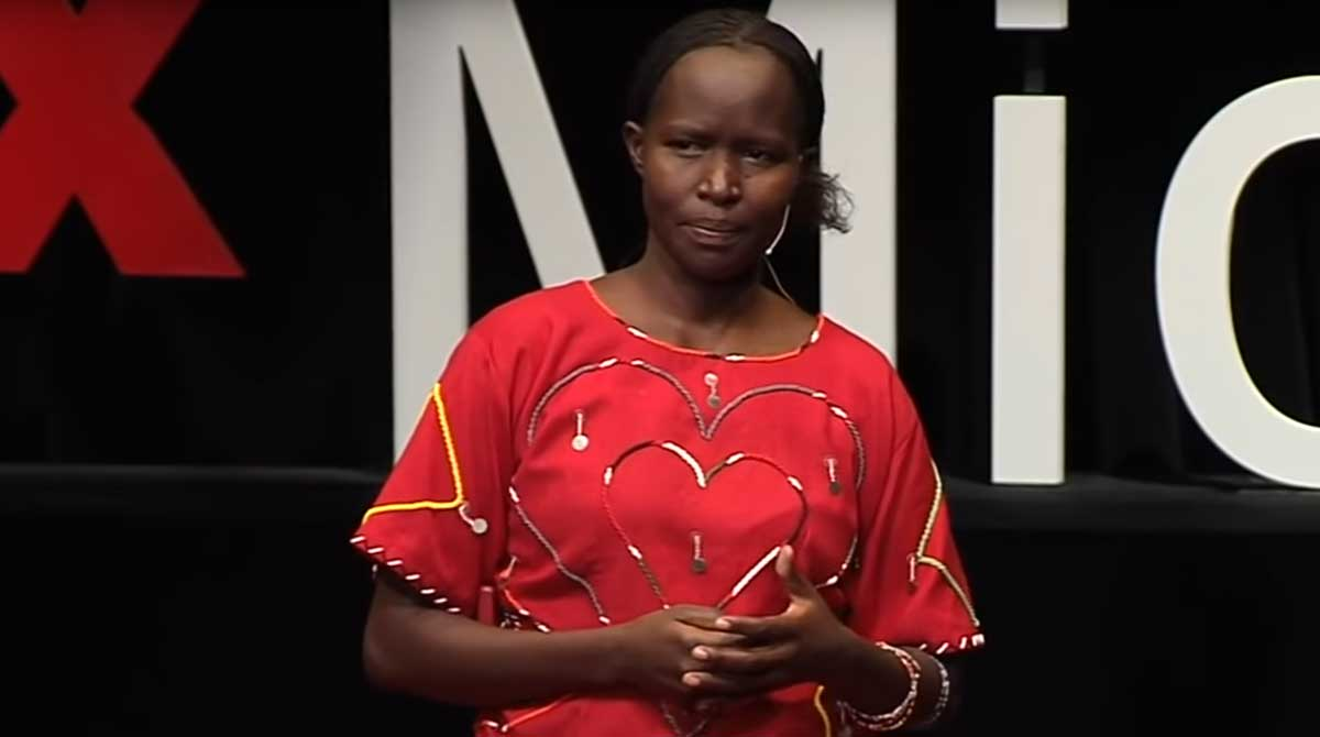 Kakenya Ntaiya of Kakenya's dream delivers a TED Talk