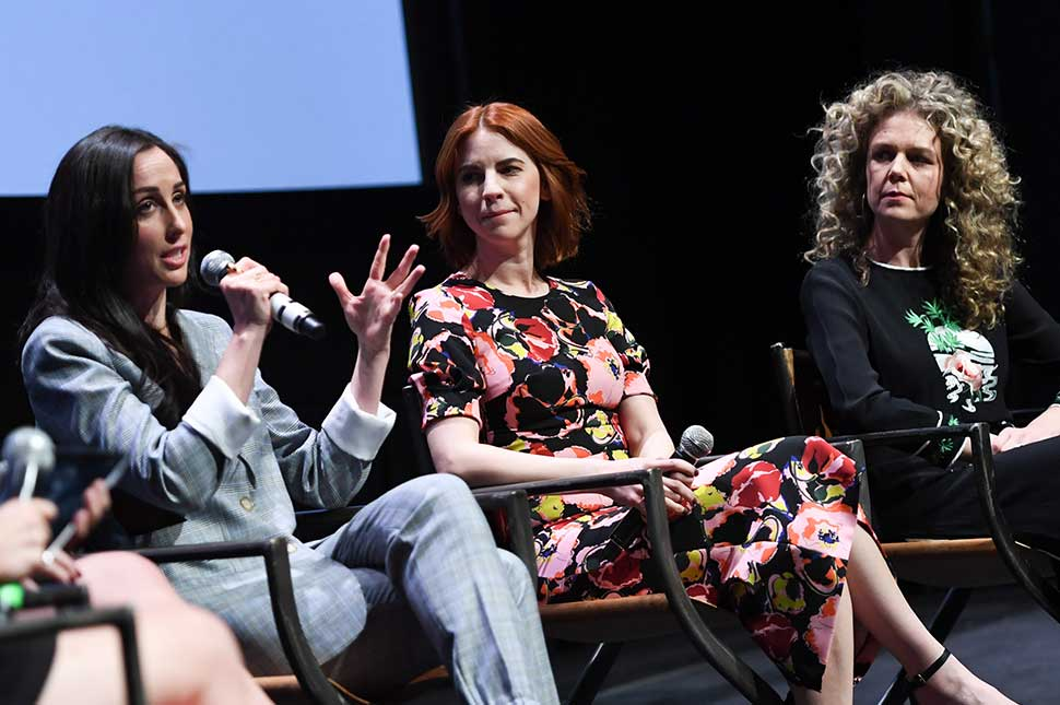 "Catherine Reitman, Dani Kind and Juno Rinaldi attend CBC Presents: A Night Out With ""Workin Moms"" at TIFF Bell Lightbox"