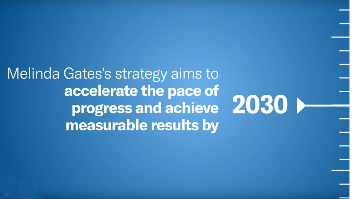 WATCH: Melinda Gates's strategy aims to accelerate the pace of progress and achieve measureable results by 2030