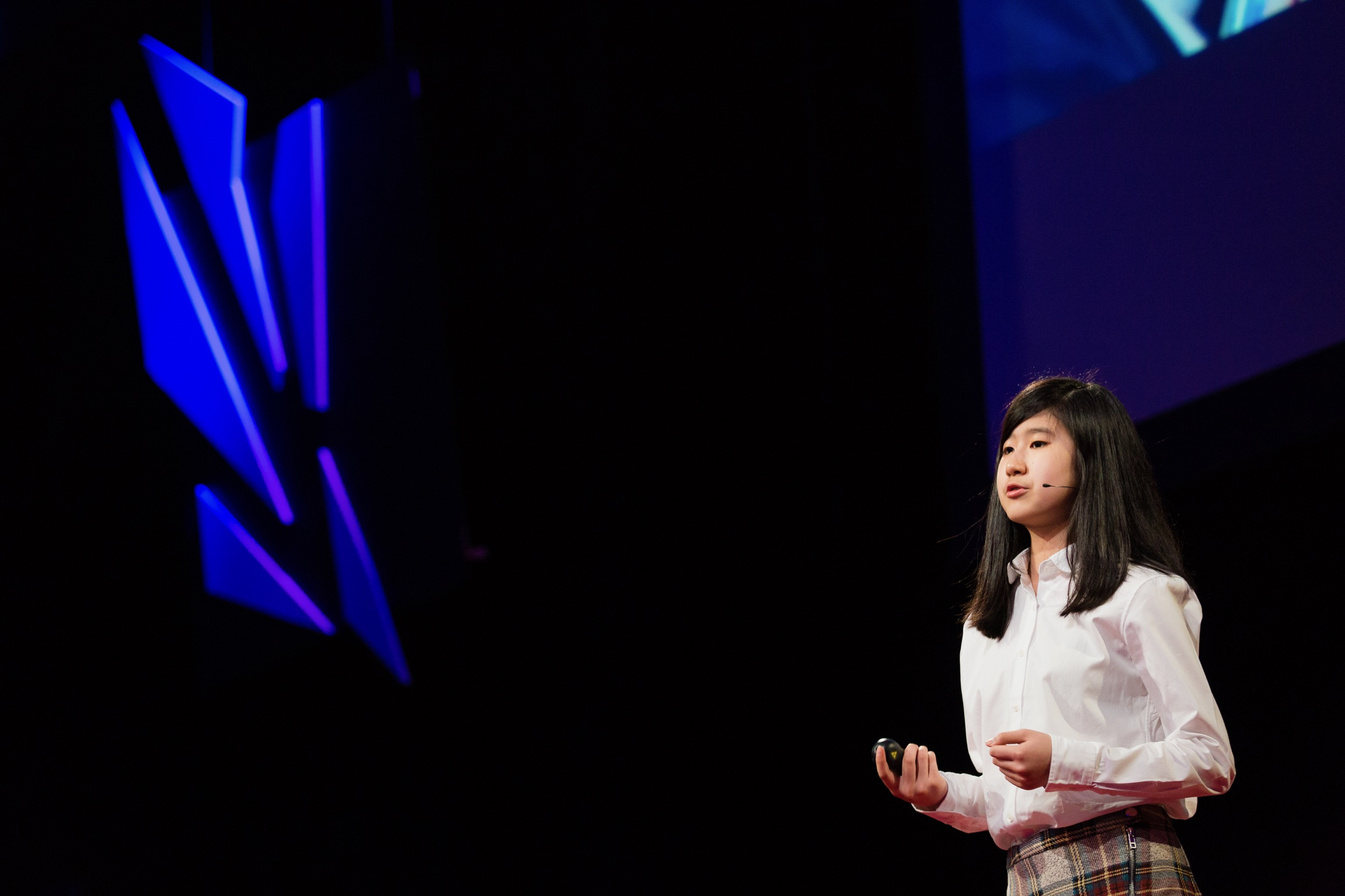 Emma Yang, founder of Timeless, shares a presentation at TEDxFoggyBottom in Washington, D.C.