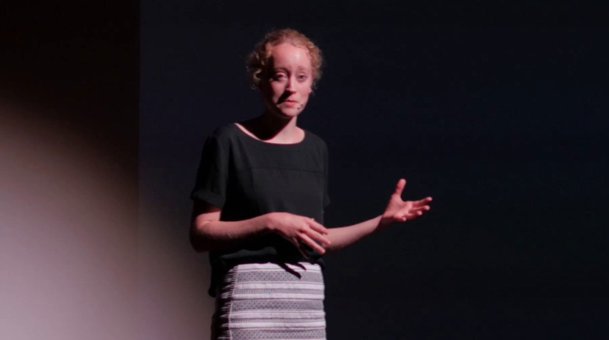 CLICK TO PLAY: Thumbnail for Erin Smith Ted Talk on early detection of Parkinson's Disease