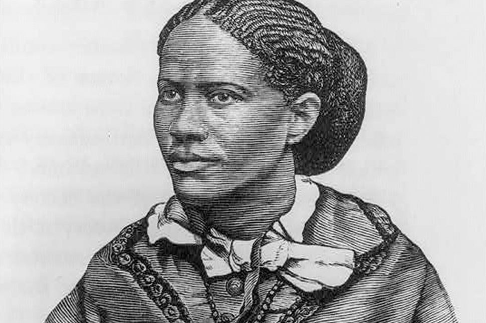 An illustrated portrait of suffragist Frances Ellen Watkins Harper