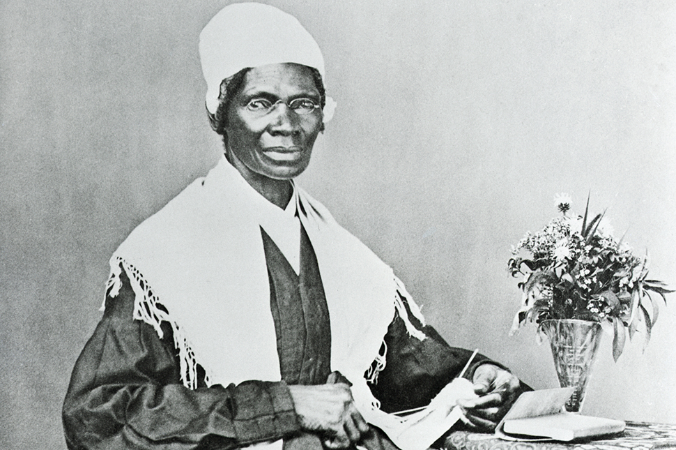 a black and white portrait of suffragist Soujourner Truth
