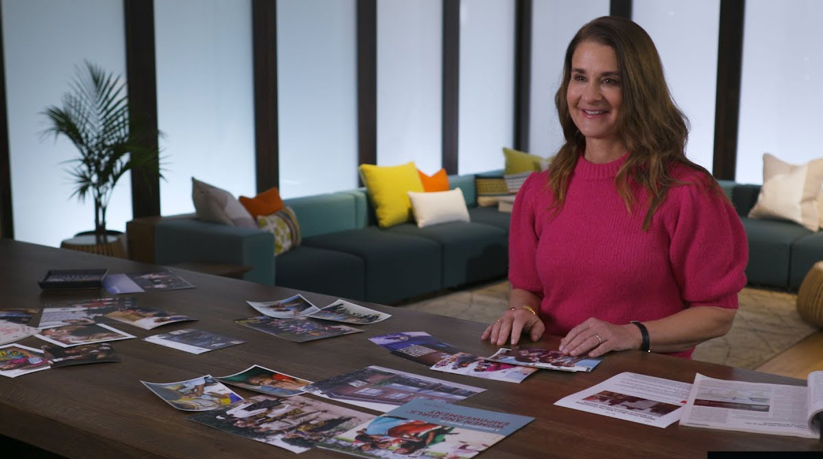 VIDEO: Melinda Gates reviews photos from the 20 years of the Bill and Melinda Gates Foundation