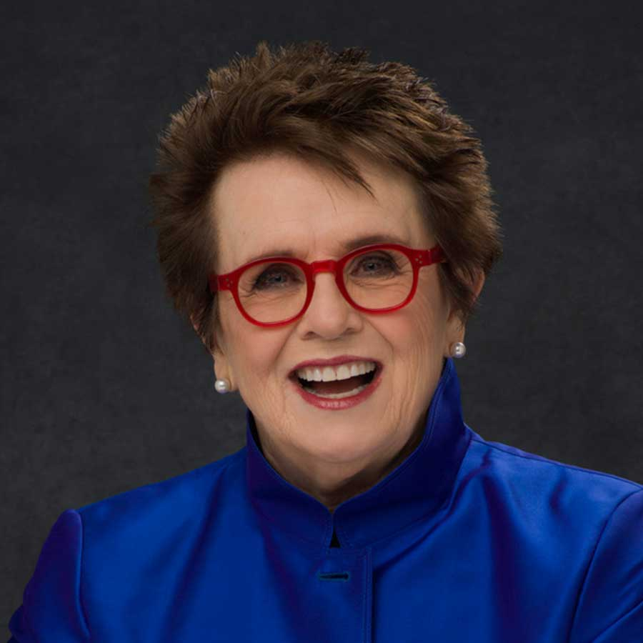 Portrait of Billie Jean King