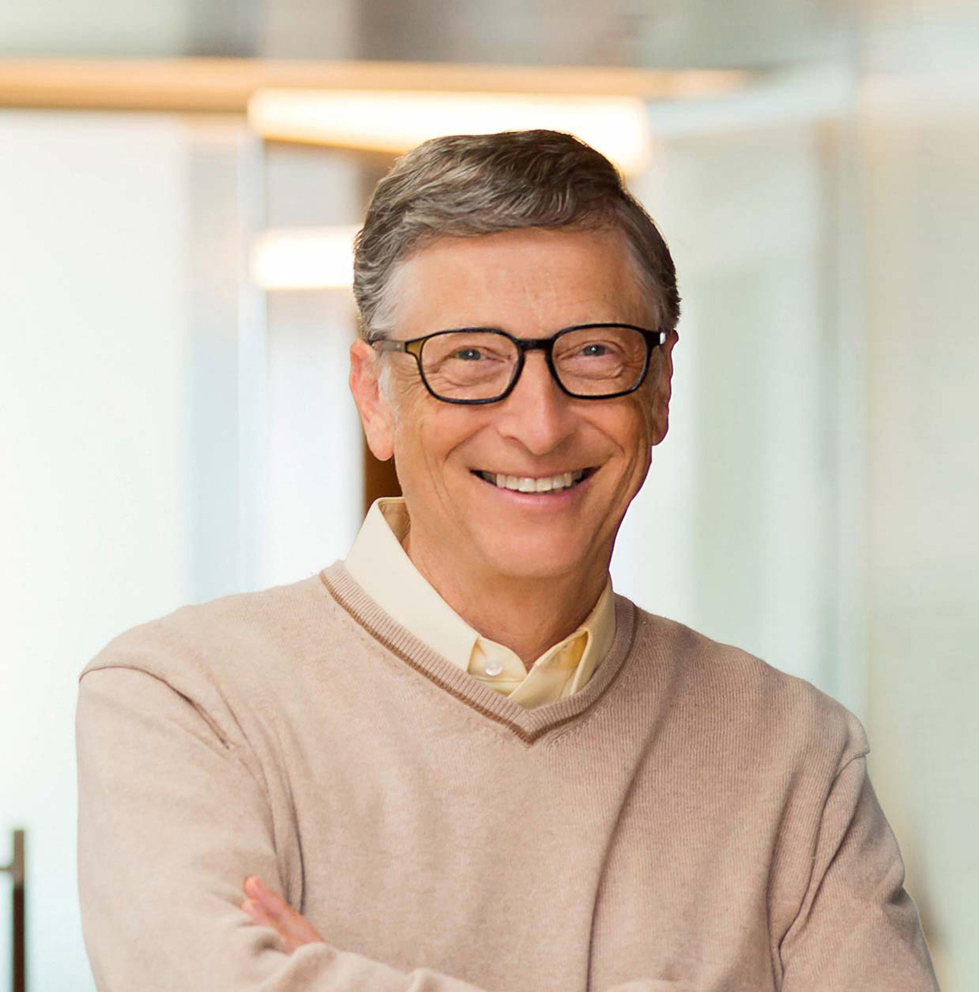 Professional portrait of Bill Gates