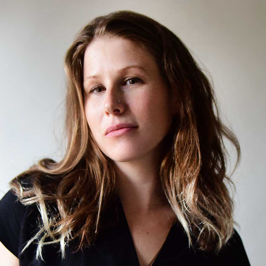 "Portrait of Caroline Criado Perez, author of ""Invisible Women: Exposing Data Bias in a World Designed for Men"""
