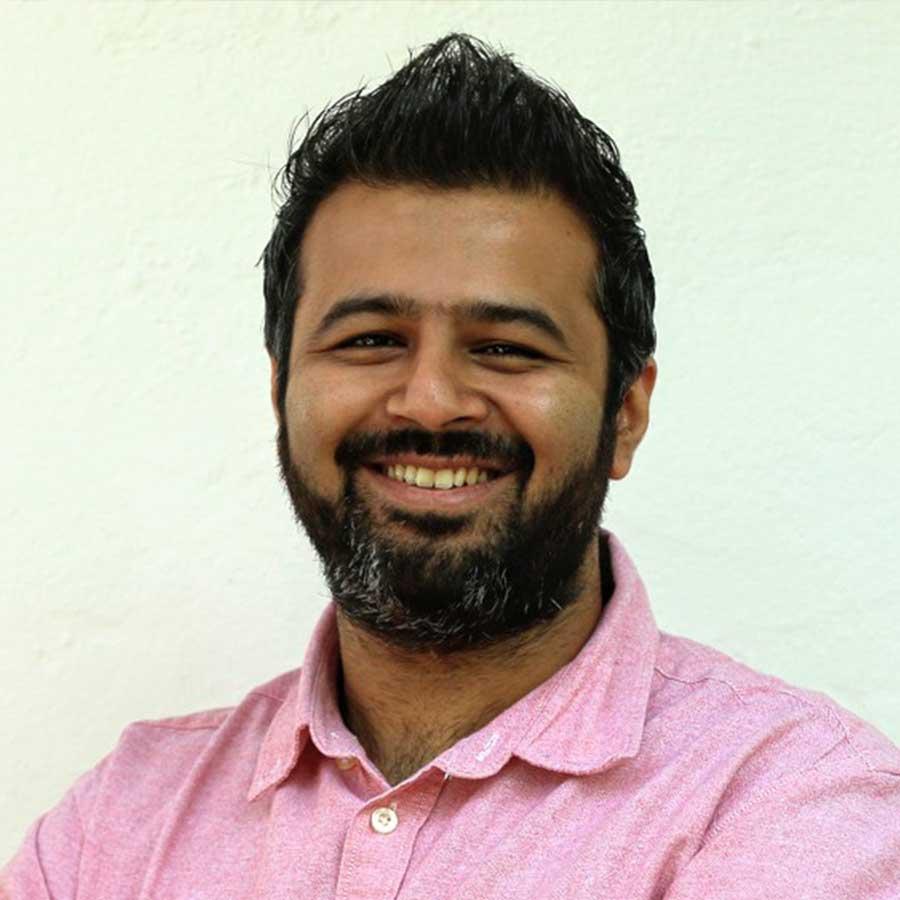 Professional portrait of Mumbai-based writer, producer, storyteller, entrepreneur and youth mental health advocate, Nikhil Taneja.