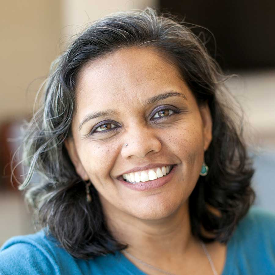 Portrait of Sarita Gupta, founder of Caring Across Generations
