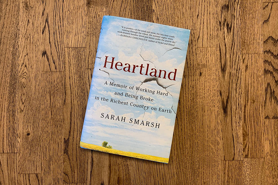 "The book cover for ""Heartland"" by Sarah Smarsh"