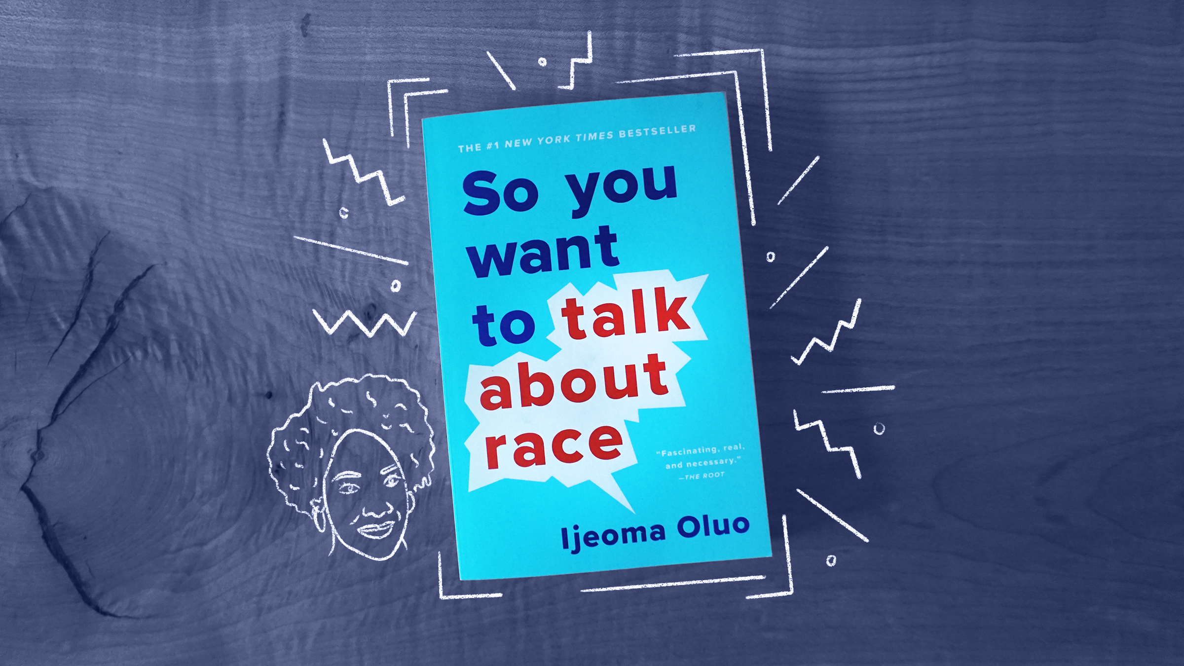 "The book cover of ""So you want to talk about race"" by IIjeoma Oluo"