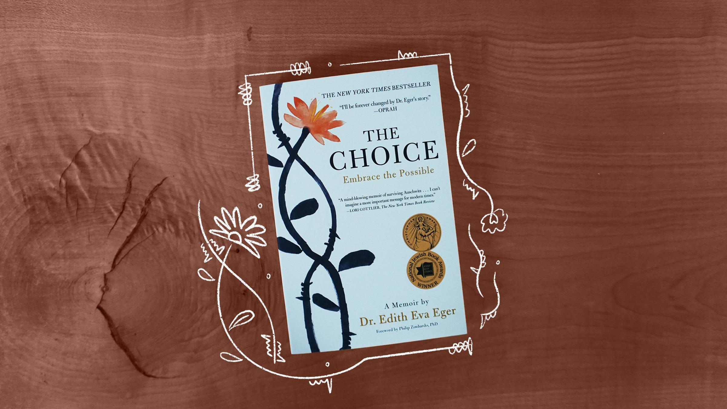 "An illustration of the book cover of ""The Choice"" by Dr. Edith Eva Eger"