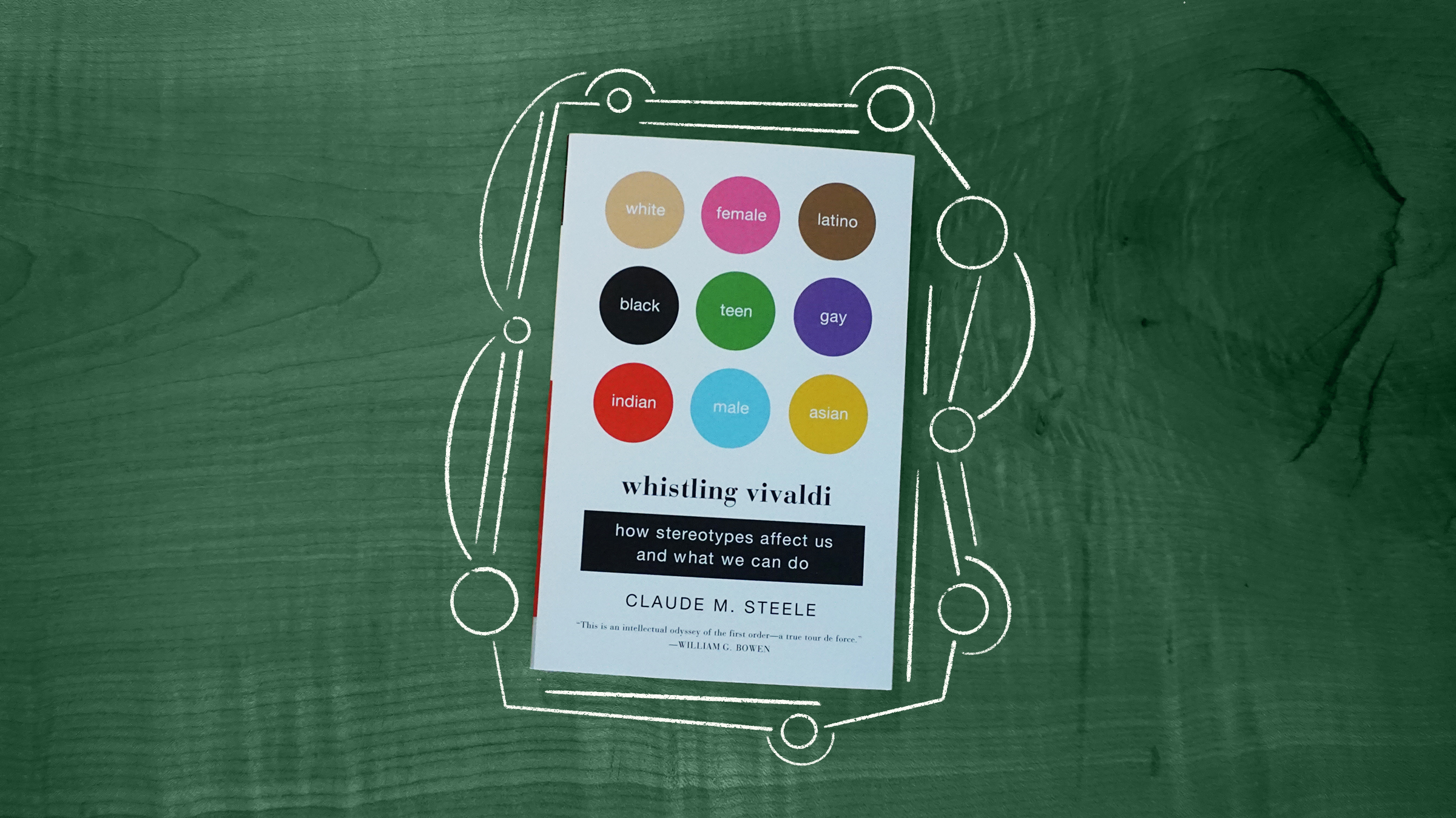 Illustration of the book cover for Whistling Vivaldi by Dr. Claude M. Steele